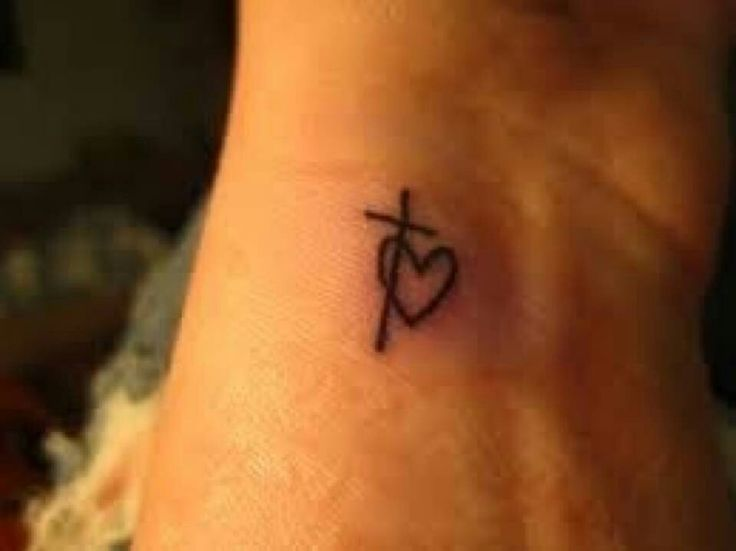 Love the heart intertwined with the cross