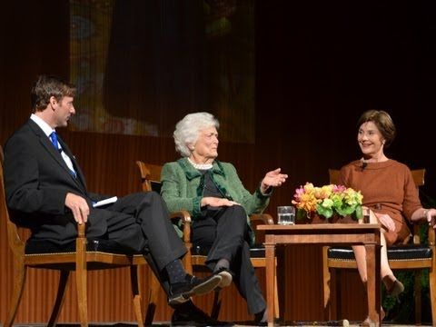 (21) An Evening with Barbara Bush and Laura Bush, 11/15/12. - YouTube