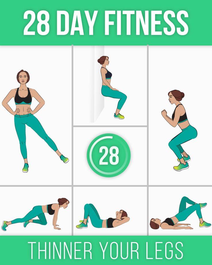 28 Day Fitness for Thinner Your Legs – Kadejah Lane
