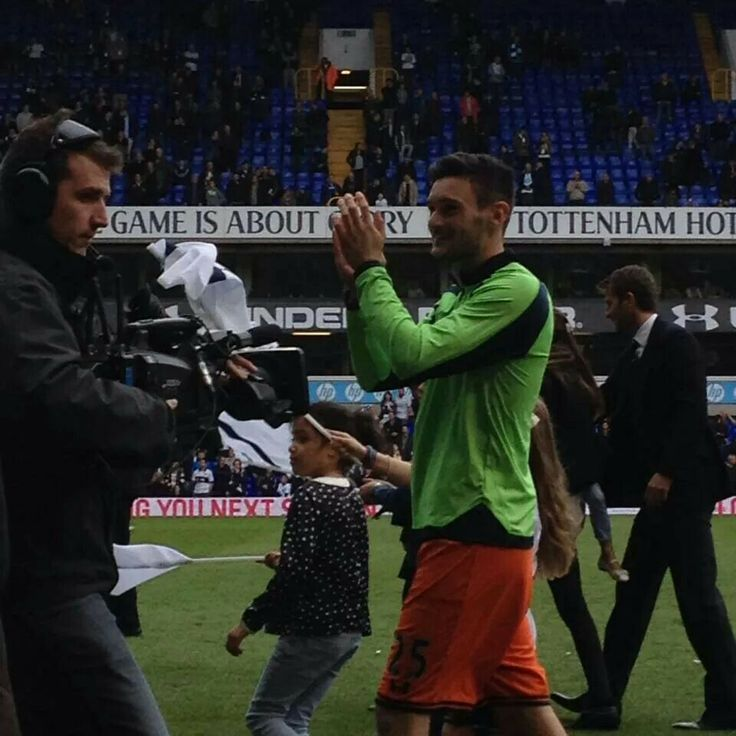 Lloris thanking fans after the last game of the season