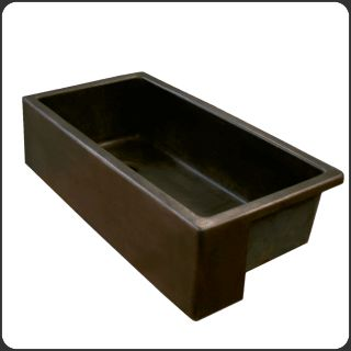 Eleek Inc. Farmhouse sink, 100% Recycled cast aluminum with an oil rubbed bronze finish. #LEED