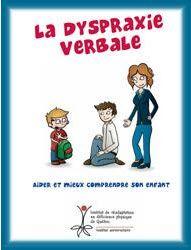 Dépliant sur la dyspraxie verbale