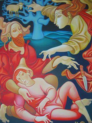 """Sacrifice of Isaac"" by Janet & Emmanuel Snitkovsky"