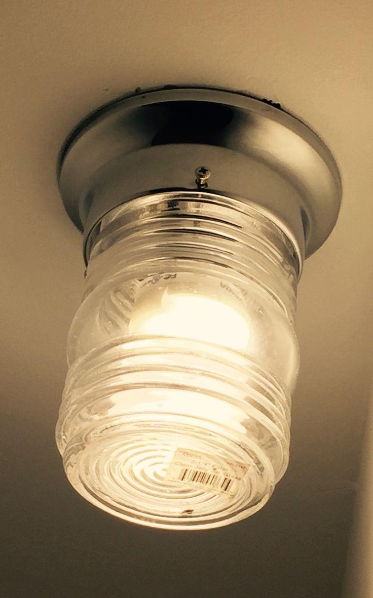 Simple Jelly Jar Light Fixture Basement Lighting Light