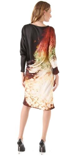 Maria Grachvogel Print Satin Garnet Dress