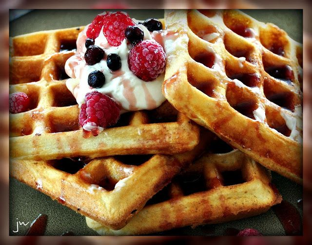 """Years ago . . . many moons ago, as a new Bride, I searched the world over for the """"perfect waffle recipe."""" I found it! When I'm looking for great recipes, I always grab those home grown ward cookbooks. The recipes are usually tried and trusted and rarely let you down. I've never looked for …"""
