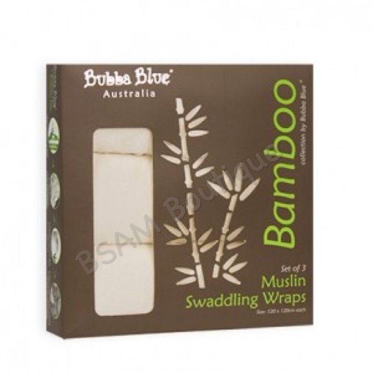 Bubba Blue – Bamboo Muslin Swaddling Wraps 3 pack  