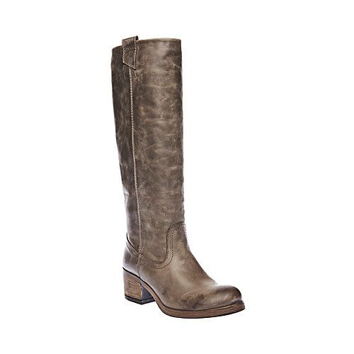 SEESTER TAUPE LEATHER women's boot flat casual - Steve Madden