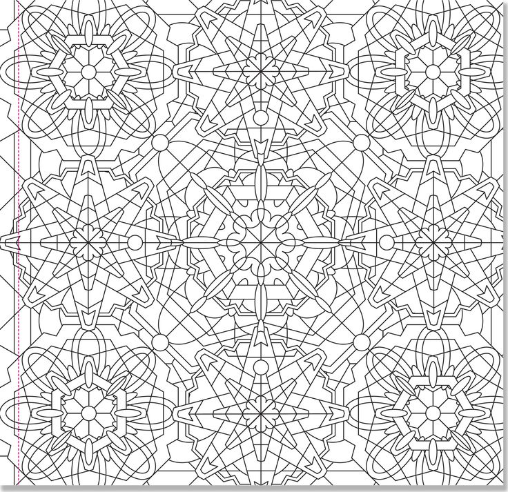 kaleidoscope designs free coloring pages - photo#36