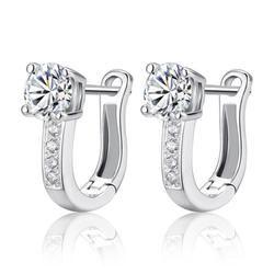 Rhinestone Sterling Silver Earrings