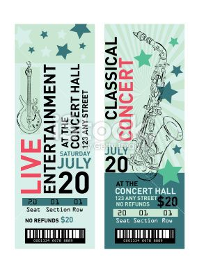25 beste ideen over Concert ticket template op Pinterest