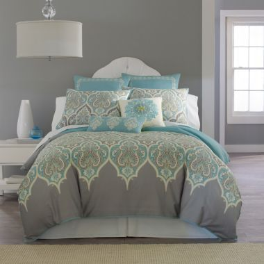 Kashmir comforter set grey multi homey home pinterest for Best color bed sheets
