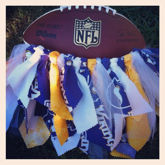 TuToo Cute Tutu - NFL Minnesota Viking Cheerleader Tutu- Unique & Handmade on Etsy, $32.00