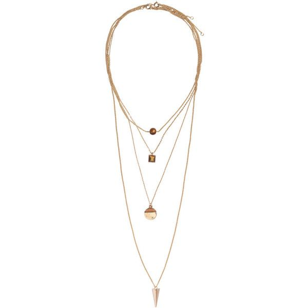 H&M 2-pack necklaces ($16) ❤ liked on Polyvore featuring jewelry, necklaces, accessories, gold, h&m, adjustable necklace, adjustable chain necklace, chain necklace and plastic jewelry