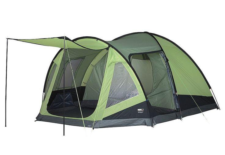 Zelt, High Peak, »Santiago 5«, für 5 Personen. Ein Zelt mit großem Wohnraum zu einem guten Preis, in dem bis zu 5 Personen ausreichend Platz haben. Praktisch sind die 2 Eingänge. Zudem verfügt das Zelt über Dauerventilationen, 5 Innenzelttaschen, und Panoramafenstern, die das Zelt mit viel Licht durchfluten lassen. Das dazugehörige Sonnendach sorgt für einen zusätzlichen Schattenplatz. Das Zelt...
