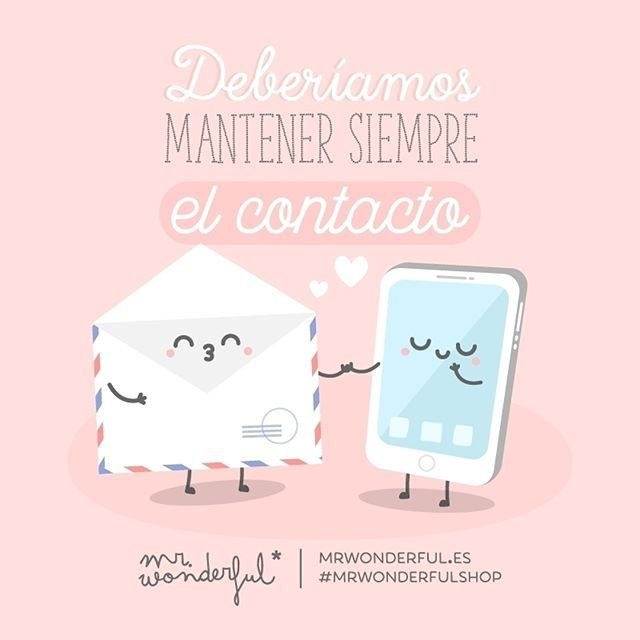 Sea vía email o vía carta, tenemos que charlar más a menudo. We should always stay in touch. There are some traditions we should never lose. #mrwonderfulshop #quotes #contact #mail #letter