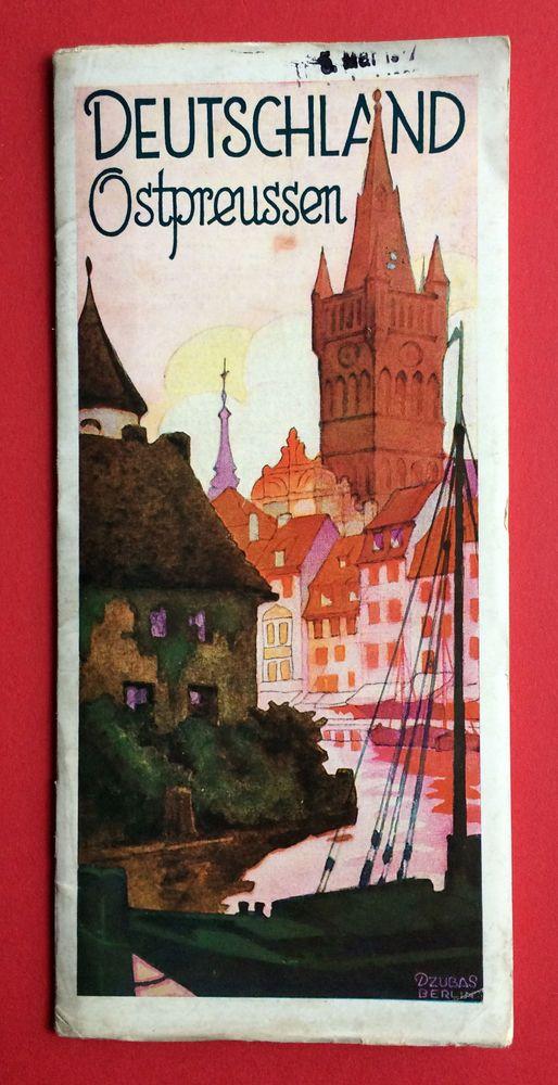 Reise Prospekt OSTPREUSSEN Deutschland von 1937 mit 32 Seiten ( F14932