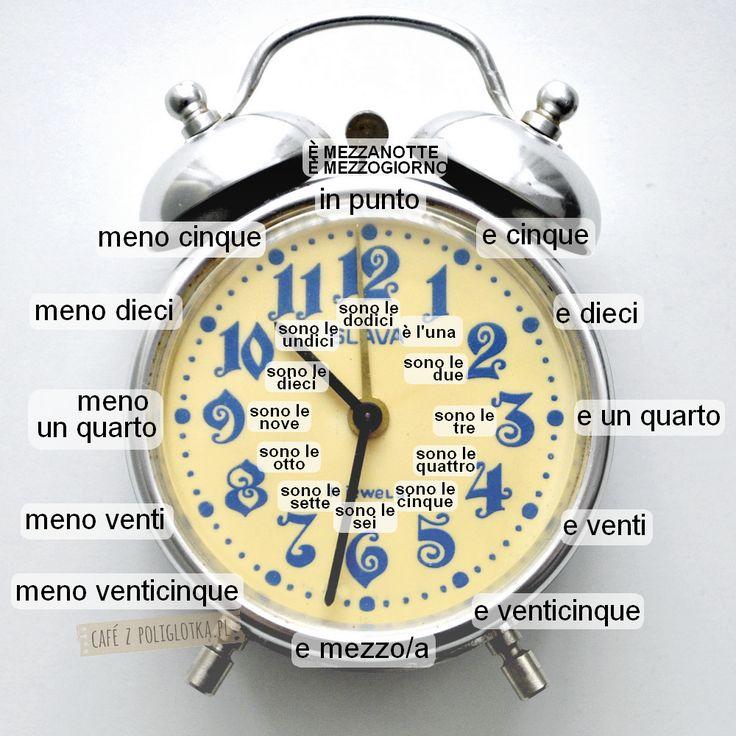 Godziny, dni tygodnia i miesiące po włosku