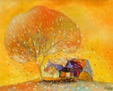 Amazing artist from Vietnam...Dao Hai Phong. Yellow Autumn