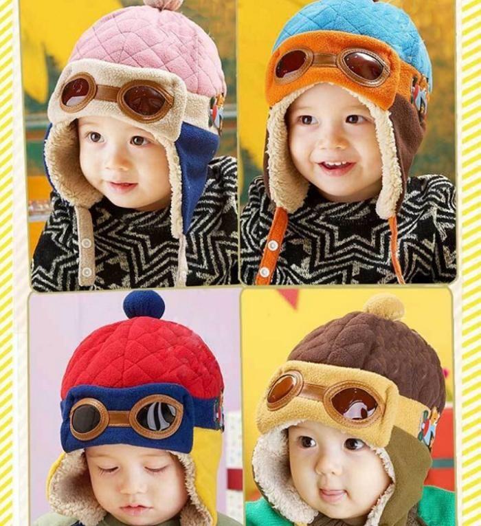 New Children Baby Pilot Caps Girl Boy Winter Warm Cap Lei Feng Hat Beanie -- BuyinCoins.com