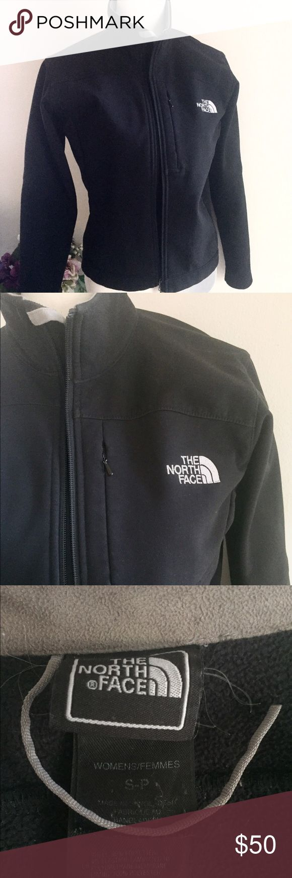 Apex North Face Shell Jacket In excellent condition other than the loop thing by the tag not being in tact for hanging it on hooks. Very warm and great as a windbreaker/all season jacket!! Size small. The North Face Jackets & Coats Utility Jackets
