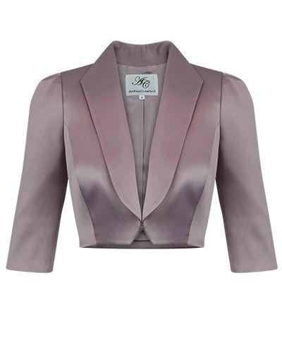 Allure Shawl Collar Luxe Satin Bolero