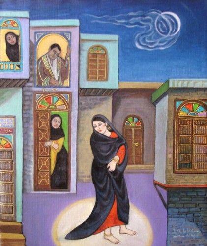 لوحة جميلة للفنانة وسما الأغا