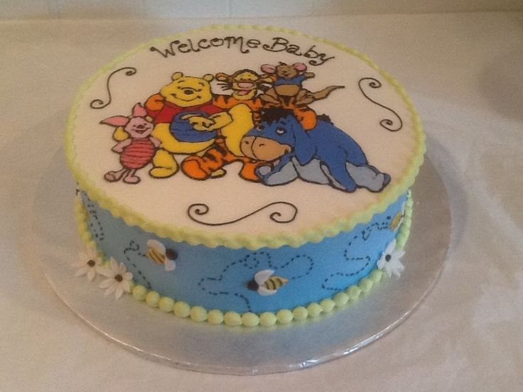 winnie the pooh baby shower cake specialty designed cakes