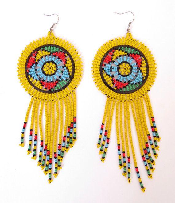Zulu africains perles Boucles d'oreilles  par GoneRuralSafariCurio