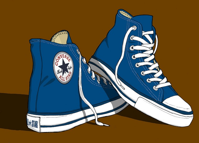 Converse All Stars Trainers illustration by Erlen Masson, via Flickr