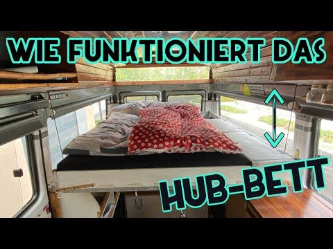 Hohenverstellbares Bett Im Mb100 Diy Camper Youtube Wohnmobil Umbau Camping Ausbau Bett
