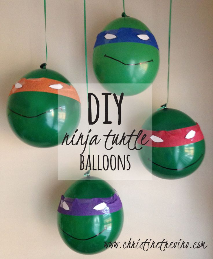 These simple festive Ninja Turtle balloons are the perfect addition to your Ninja Turtle party. Post includes a FREE printable download for the turtle eyes.