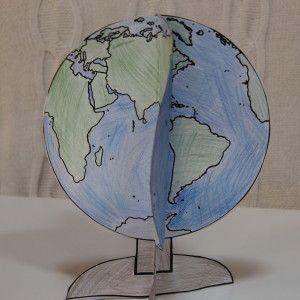 földgömb papírból