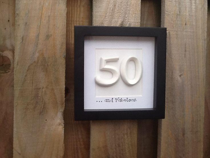 Personalised 50th Birthday. Box frame