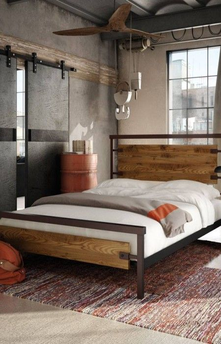 Lit amisco en bois et m tal plusieurs teintes disponibles en magasin chambre coucher - Chambre a coucher magasin ...