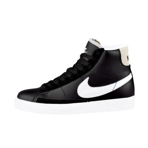 Tween Nike Blazer Mid Athletic Shoe - Black/Grey