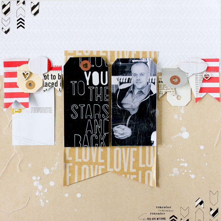 DIY Foto-Tag im Retrostil auf Scrapbooking Layout inkl. Video - Janna Werner