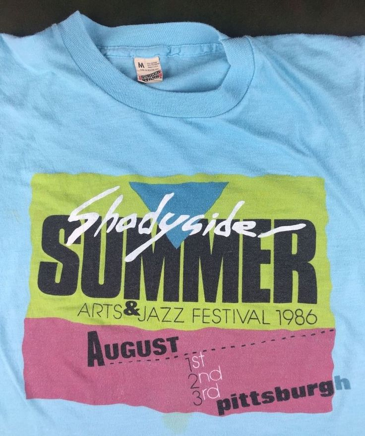 True Vintage 1986 Shadyside Summer First Annual Arts Jazz Festival Pittsburgh M #ScreenStars #GraphicTee #Everyday