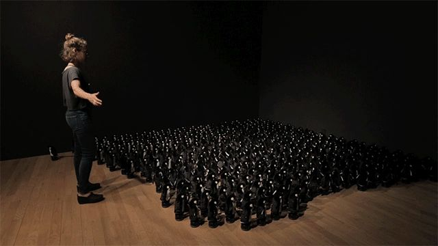 Interactive Mirror Built from 450 Rotating Penguins – Fubiz™