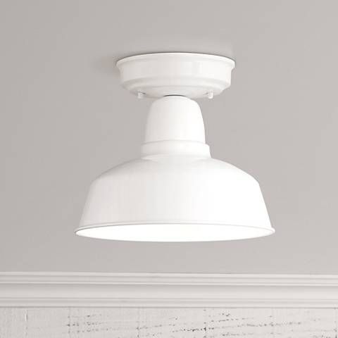 """Urban Barn Collection 10 1/4""""W White Ceiling Light - #13F73 