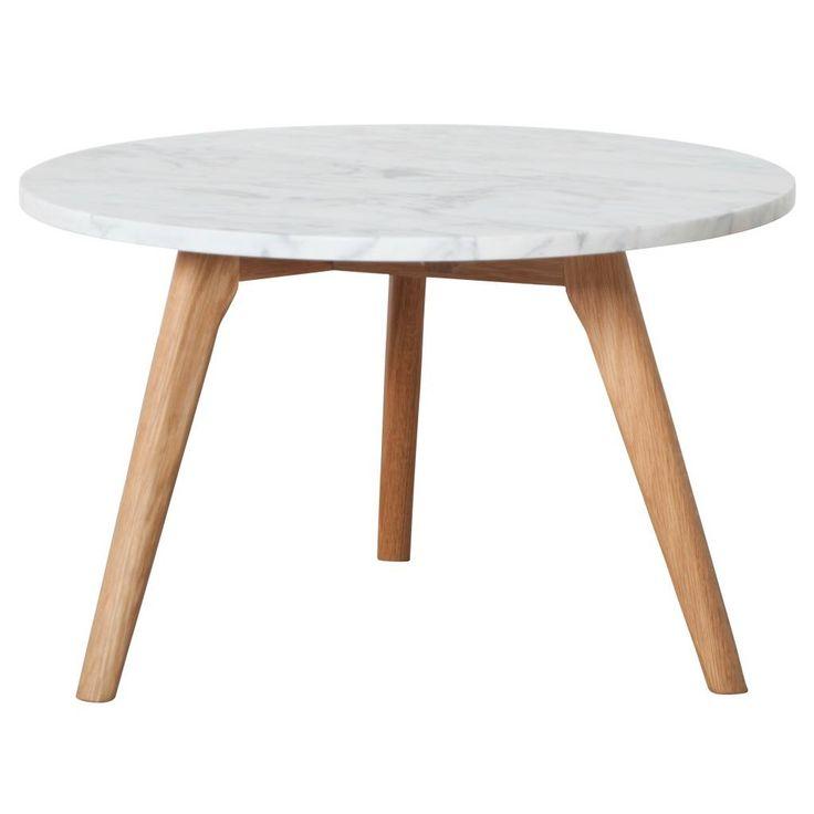 150 Zuiver Bijzettafel white stone large marmer wit grijs Ø50x32cm