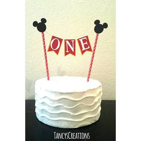 mickey mouse first birthday cake topper - Google Search