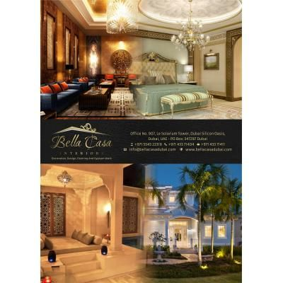 BELLA CASA INTERIORS Decoration And Design JOB In DUBAI 971563222319