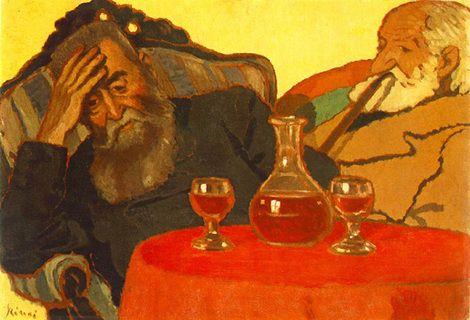 Jozsef Rippl-Ronai, My father and Piacsek, 1907