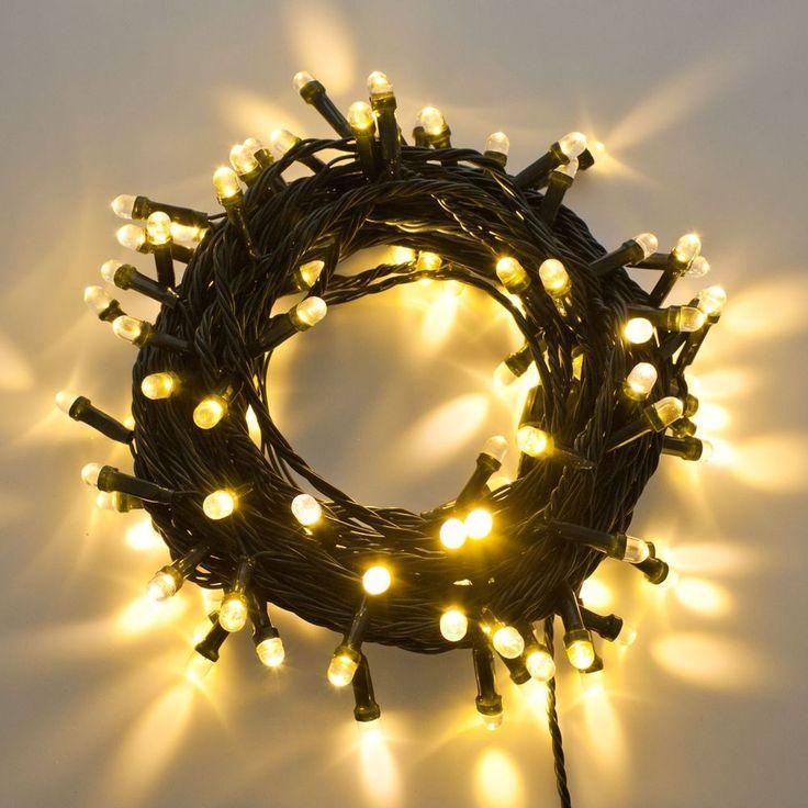 Lichterkette 10 m, 100 Super Opto LEDs warmweiß, grünes Kabel | Möbel & Wohnen, Feste & Besondere Anlässe, Jahreszeitliche Dekoration | eBay!