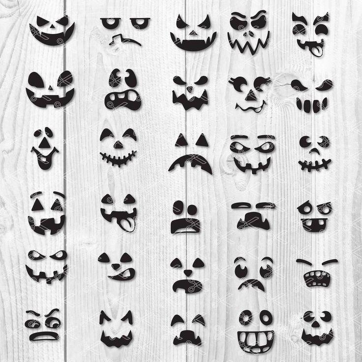 Pumpkin Face SVG Bundle Halloween Faces SVG Pumpkin
