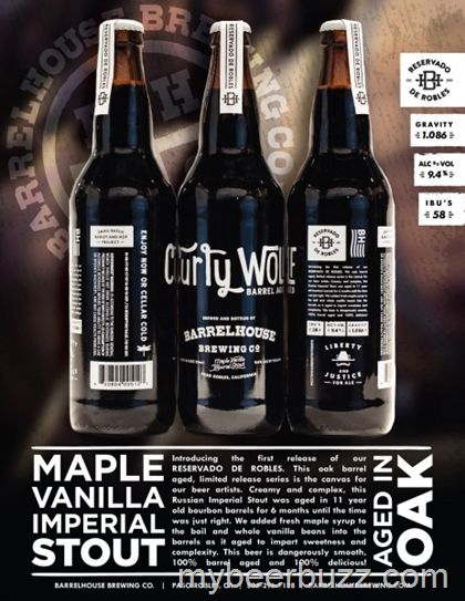 mybeerbuzz.com - Bringing Good Beers & Good People Together...: BarrelHouse Brewing Releases Curly Wolf Maple Vani...
