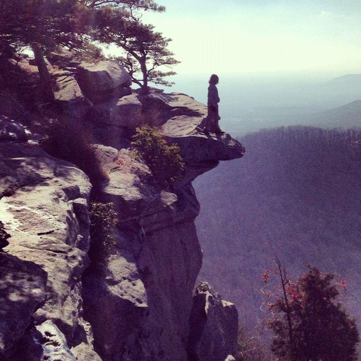 On top of Mt Yonah, Helen, Georgia.