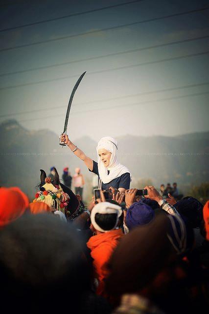 Harsangat Kaur Khalsa is boss. Holla Mahalla 2012 #sikh