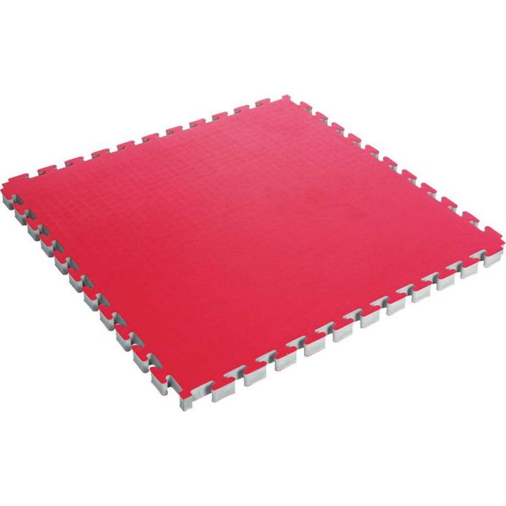 Century Reversible 1.5'' Puzzle Mat, Red